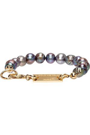 In Gold We Trust SSENSE Exclusive Pearl Bracelet