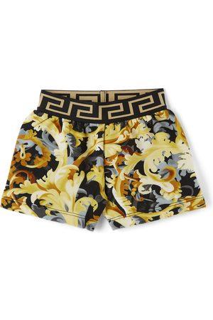 VERSACE Baby Black & Gold Baroccoflage Shorts