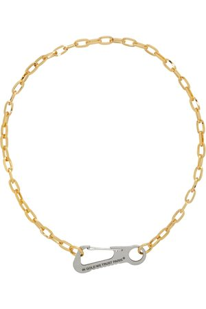 In Gold We Trust Carabiner Necklace