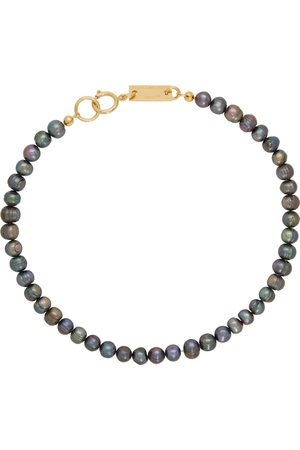 In Gold We Trust SSENSE Exclusive & Black Pearl Necklace