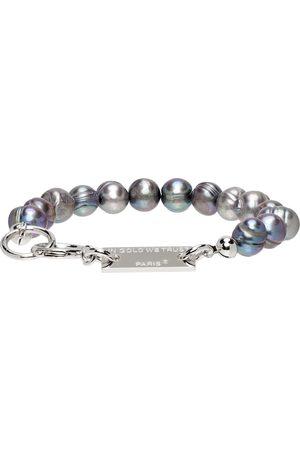 In Gold We Trust SSENSE Exclusive Silver Pearl Bracelet
