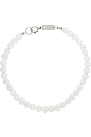 In Gold We Trust SSENSE Exclusive Silver Transparent Quartz Necklace