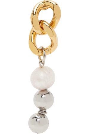 In Gold We Trust & Silver Chain Link Single Earring