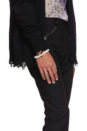In Gold We Trust SSENSE Exclusive Silver Beaded Bracelet