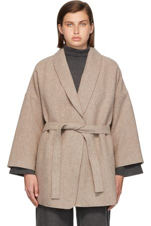Blossom Taupe Wool Sol Robe Jacket