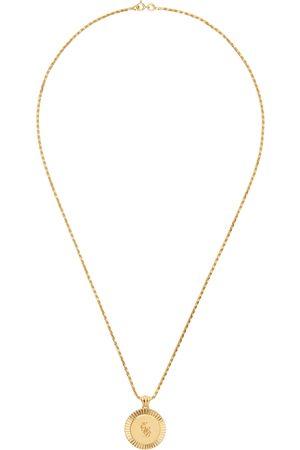 Ernest W. Baker Gold EWB Engraved Necklace