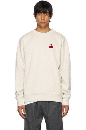 Isabel Marant Grey Flocked Mike Sweatshirt