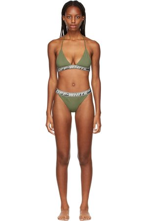 OFF-WHITE Green Logo Band Bikini