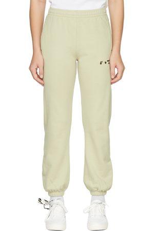 OFF-WHITE Beige Logo Lounge Pants