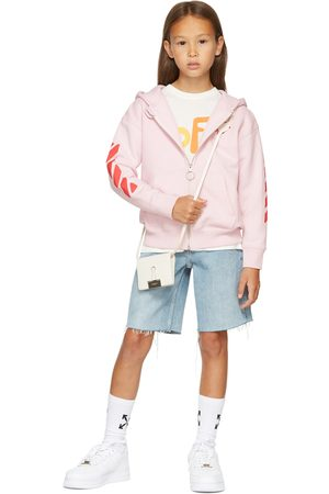 OFF-WHITE Kids Pink Rounded 'Off' Hoodie