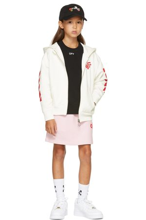 OFF-WHITE Kids White Rounded 'Off' Hoodie