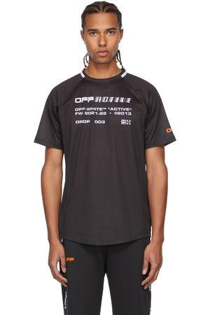 OFF-WHITE Black & White Active Logo Mesh T-Shirt