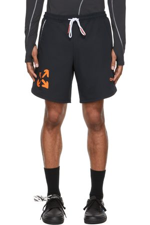 OFF-WHITE Black & Orange Active Logo Knit Shorts
