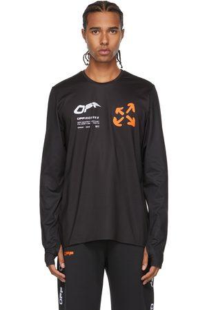 OFF-WHITE Black & Orange Active Logo Thumbhole Long Sleeve T-Shirt
