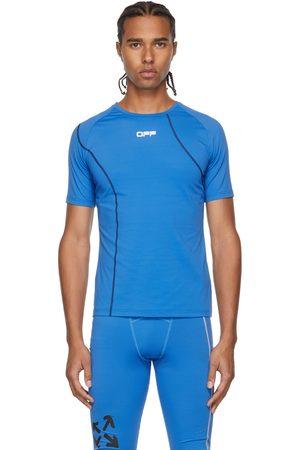 OFF-WHITE Blue Active Logo Compression T-Shirt