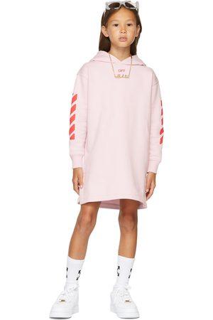 OFF-WHITE Kids Pink Stamp Logo Hoodie Dress
