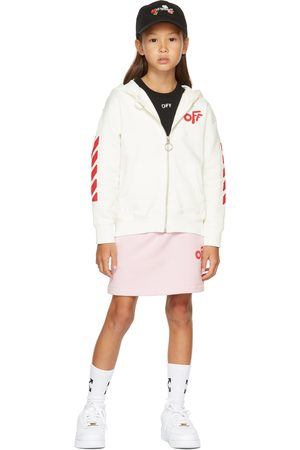OFF-WHITE Kids Pink Rounded 'Off' Mini Skirt