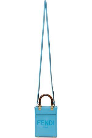 Fendi Blue Mini Sunshine Shopper Bag