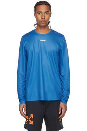 OFF-WHITE Blue Active Logo Mesh Long Sleeve T-Shirt