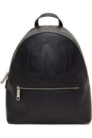 Fendi Black Logo Backpack