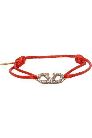 VALENTINO GARAVANI Red Cord VLogo Bracelet
