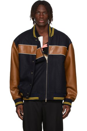 Y / PROJECT Black & Brown Double Stripe Bomber Jacket