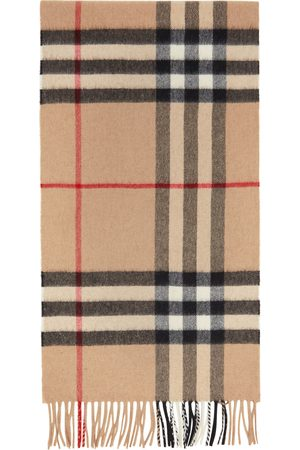 Burberry Men Scarves - Brown Giant Check Scarf