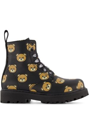 Moschino Ankle Boots - Kids - Logo Bear Boots - 29 (UK 11) - - Ankle boots