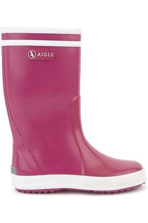 Aigle Kids - Blackberry Violet Lolly Pop Rain Boots - 31 EU - - Wellingtons