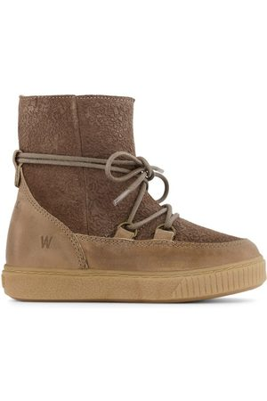 WHEAT Taupe Kaya Lace Tex Boots - 25 EU - - Ankle boots