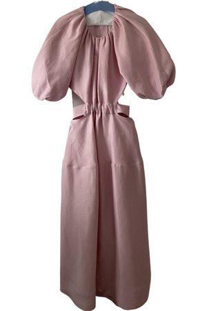 AJE Linen mid-length dress