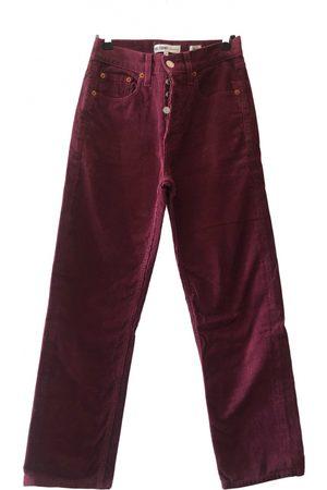 RE/DONE Women Straight Leg Pants - Straight pants