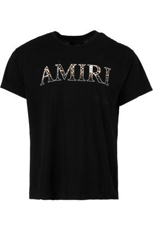 Amiri Men T-shirts - Logo Leopard Tee