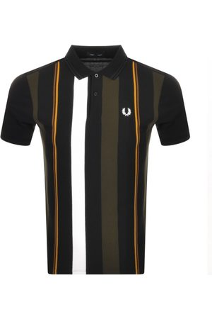 Fred Perry Men Polo Shirts - Knitted Stripe Polo T Shirt