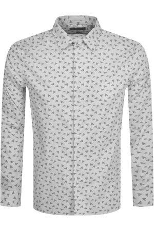 Ted Baker Long Sleeve Paper Plane Shirt