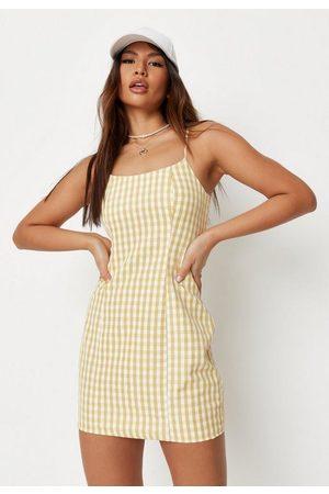 Missguided Gingham Cami Mini Dress