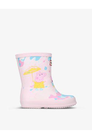 Hunter Boys Rain Boots - X Peppa Pig Kids First Muddy Puddles vulcanised rubber Wellington boots