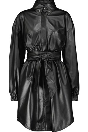 ALEXANDRE VAUTHIER Leather shirt minidress