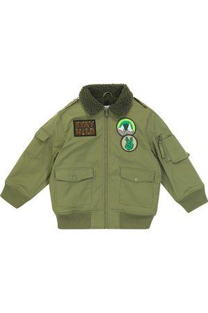 Stella McCartney Faux shearling-lined bomber jacket