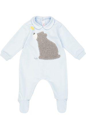 Il gufo Baby stretch-cotton onesie