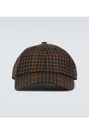 DRIES VAN NOTEN Checked wool-blend baseball cap