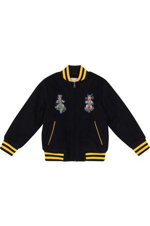 Stella McCartney Patch padded wool bomber jacket