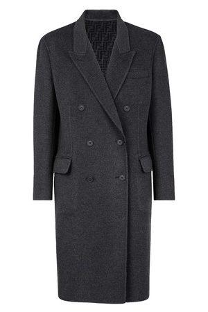 Fendi Men Coats - Grey wool coat