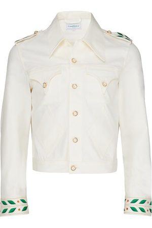 Casablanca 70's Laurel Embroidery denim jacket