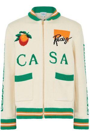 Casablanca Men Sweatshirts - Casa Racing zipped sweater