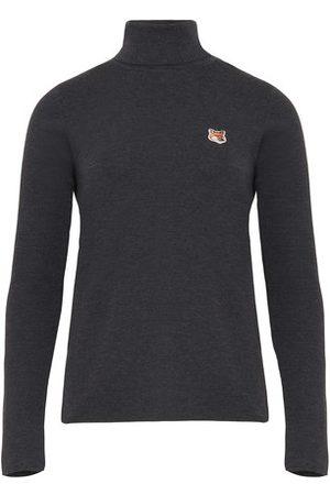 Maison Kitsune Turtlenecks - Baby Fox patch turtleneck sweater