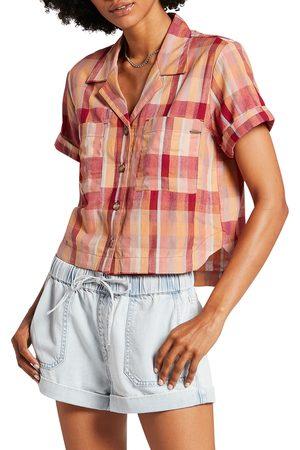 Volcom Women's Can'T Be Tamed Short Sleeve Button-Up Shirt
