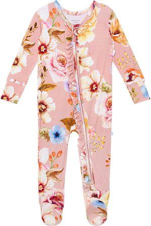 Posh Peanut Infant Girl's Miranda Zip Fitted Footie Pajamas
