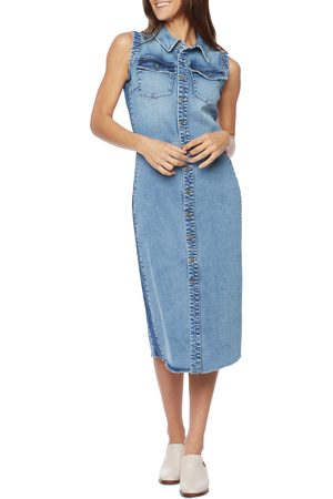 Wash Lab Denim Women's Sleeveless Denim Shirtdress