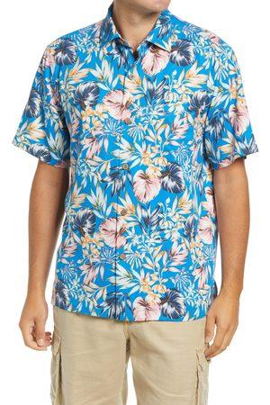 Tommy Bahama Men's Uluru Fronds Lavish Short Sleeve Silk Button-Up Camp Shirt
